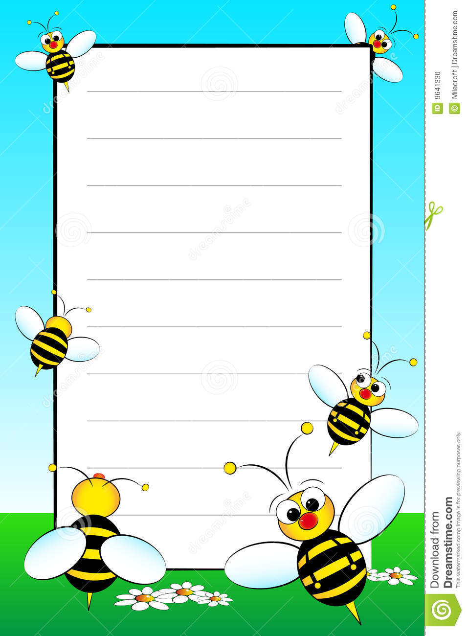 Kid Notebook With Blank Lined Page Photo Image 9641330 – Blank Lined Page
