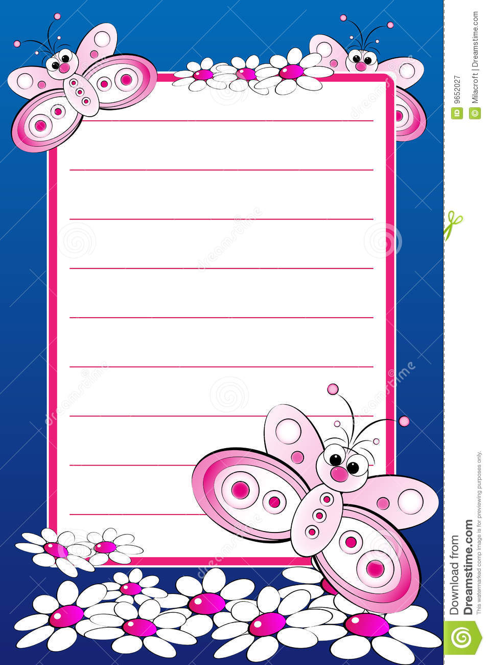Kid Notebook With Blank Lined Page Royalty Free Photography – Blank Lined Page