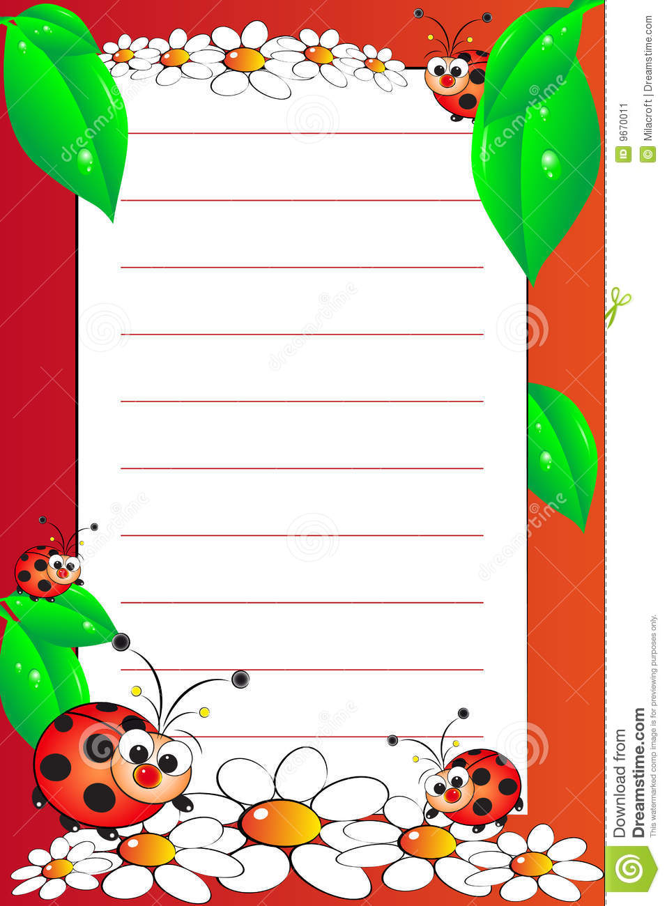 Kid Notebook With Blank Lined Page Image Image 9670011 – Blank Lined Page