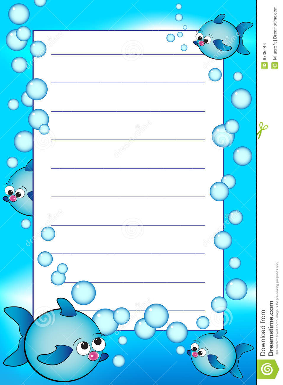 Blank Lined Paper For Kids Kid notebook with blank lined