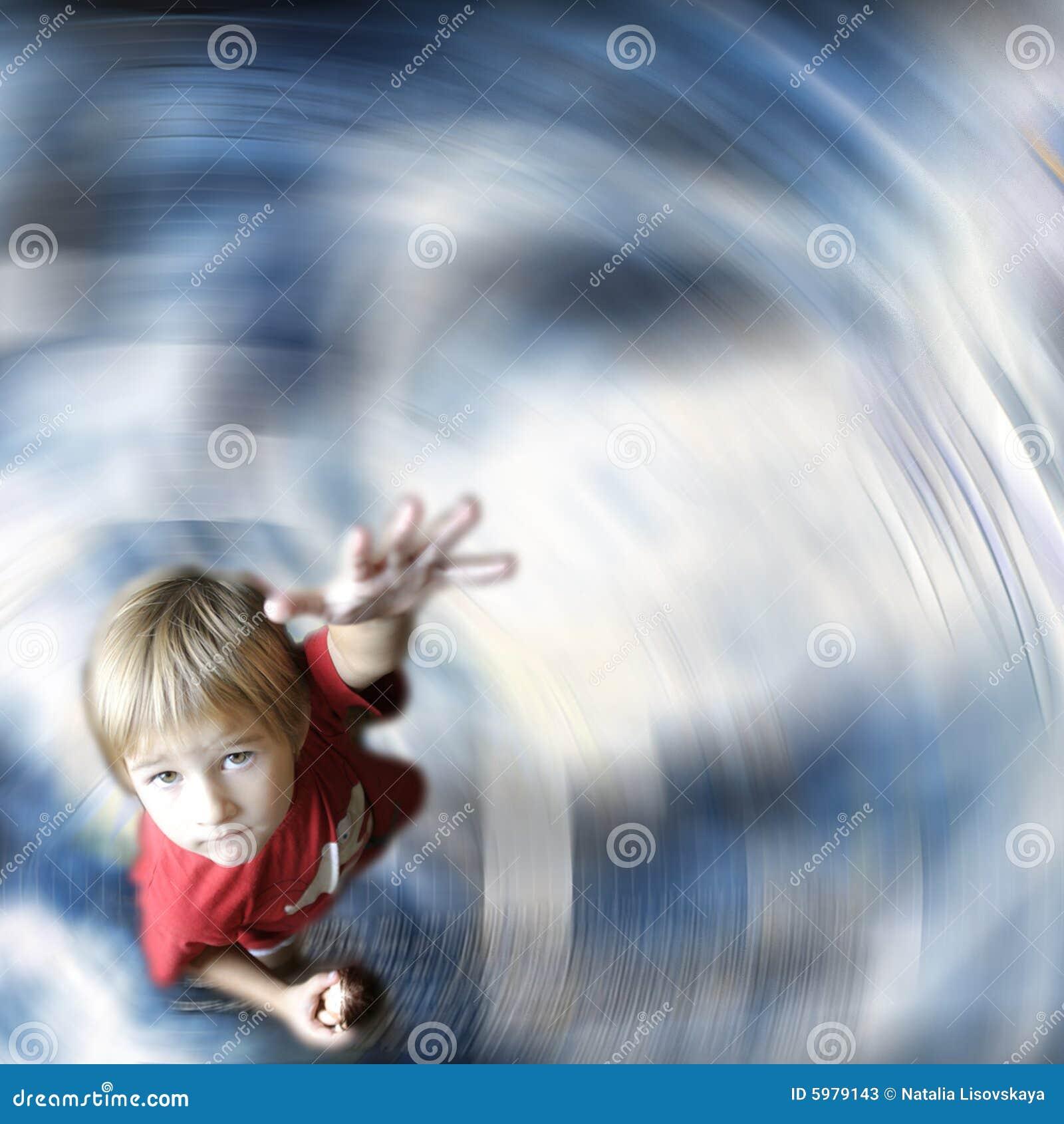 Kid offering hand