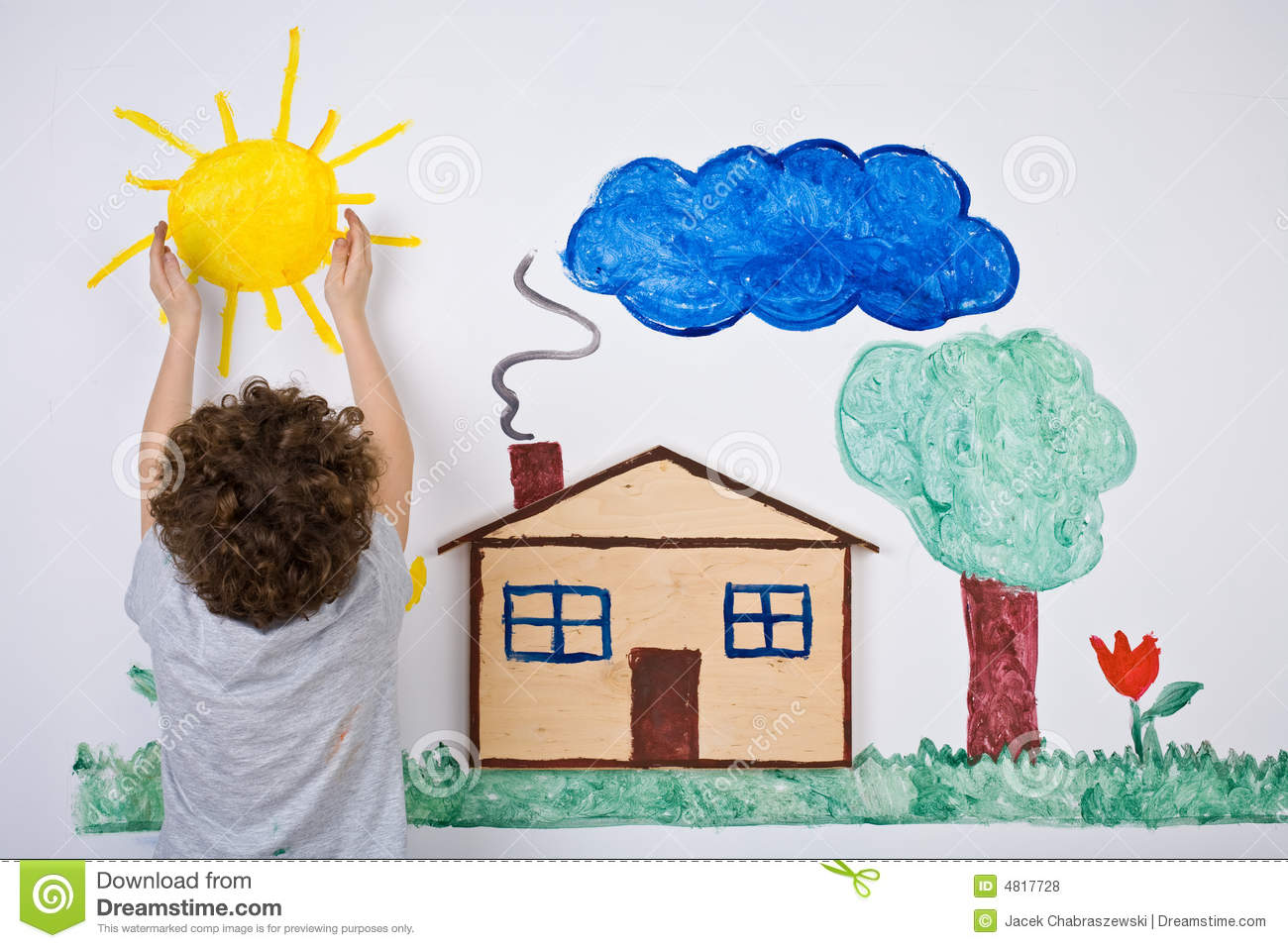 Kid painting stock photo. Image of colour, artist, artistic - 4817728