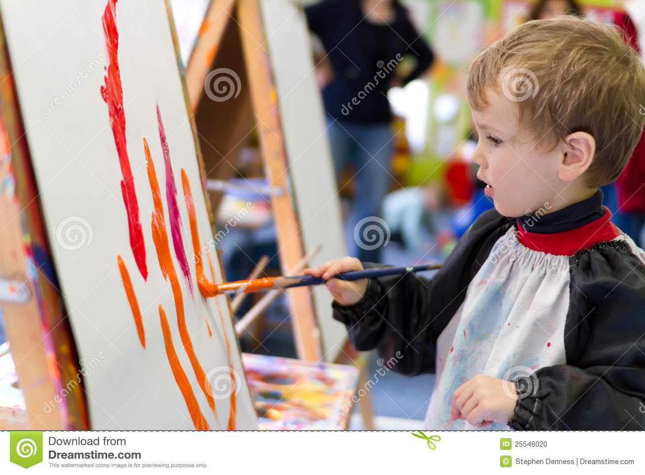 kid painting at preschool - Picture For Kid Painting