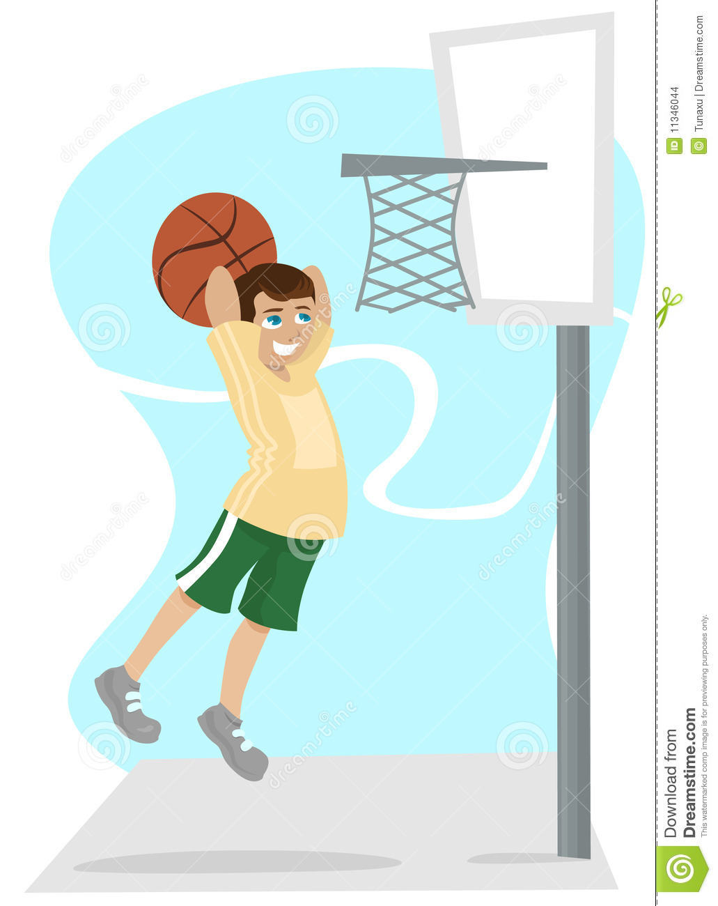 Cartoon Characters Playing Basketball : Kid playing basketball stock images image