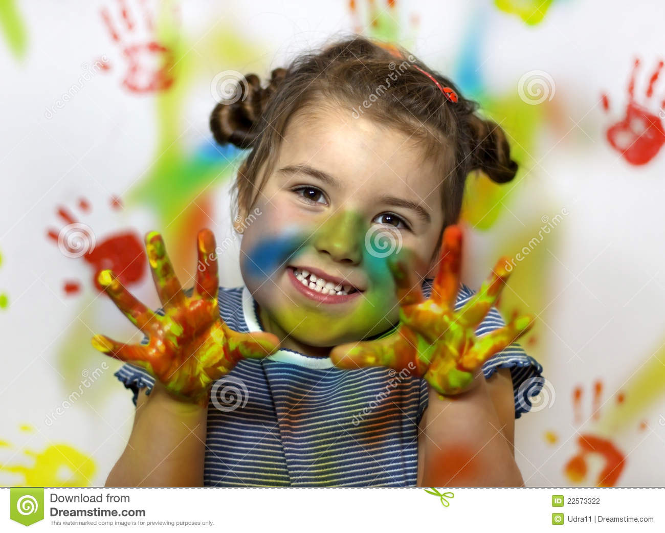Kid Playing With Paint Stock Photography - Image: 22573322