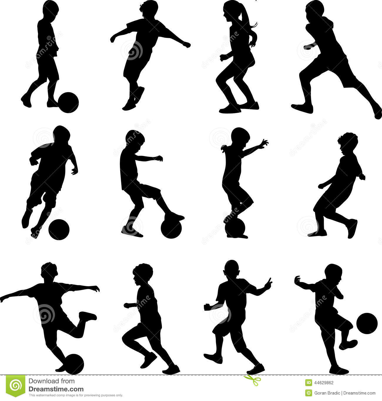 Basketball Kid Silhouette Free