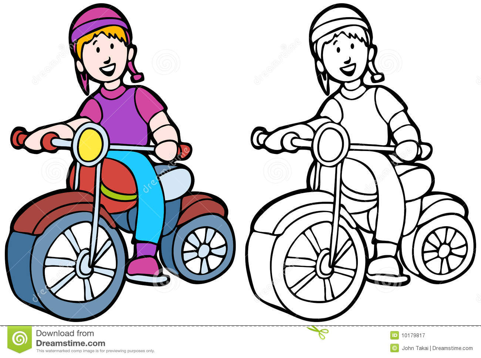 Kid Riding A Bike Stock Vector Illustration Of Cartoon