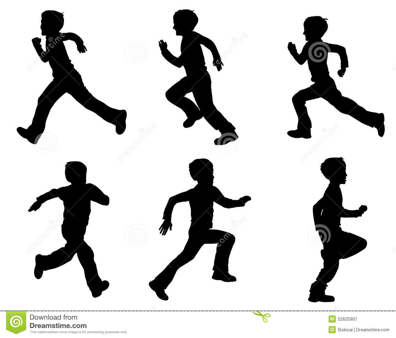 Little Kid Running From Back Png