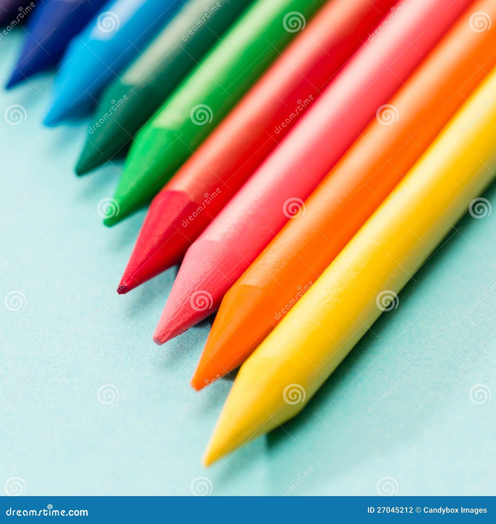 Kids Coloring Crayons School Art Stock Photography
