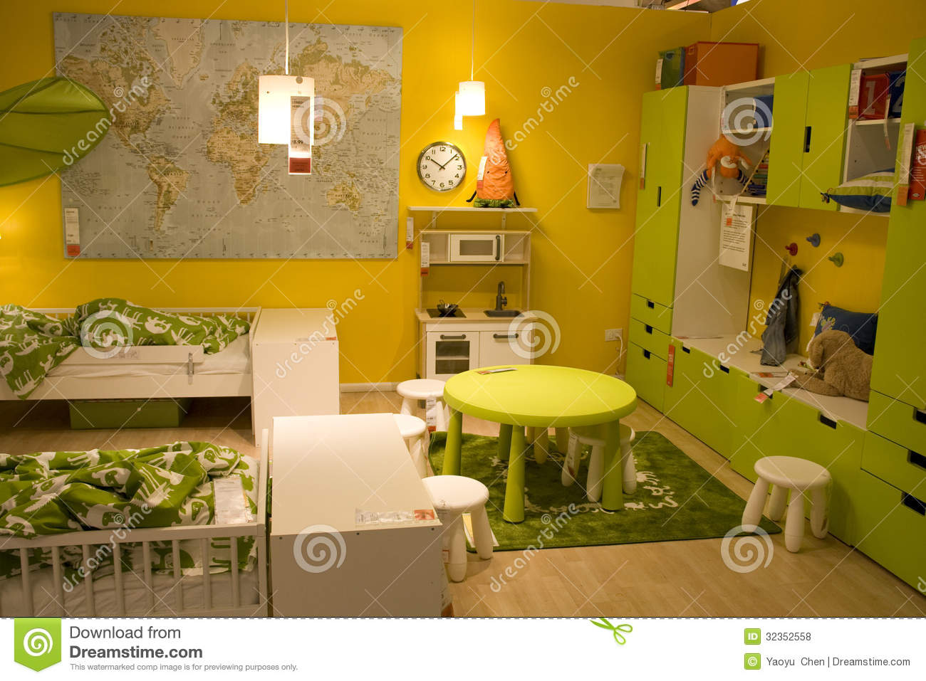 Kids room furniture store editorial stock photo Image of design