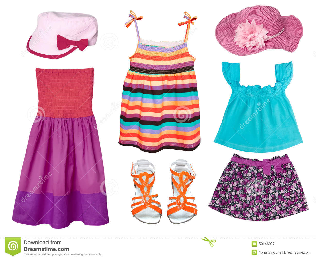 kid s summer fashion clothes stock image image 50146977