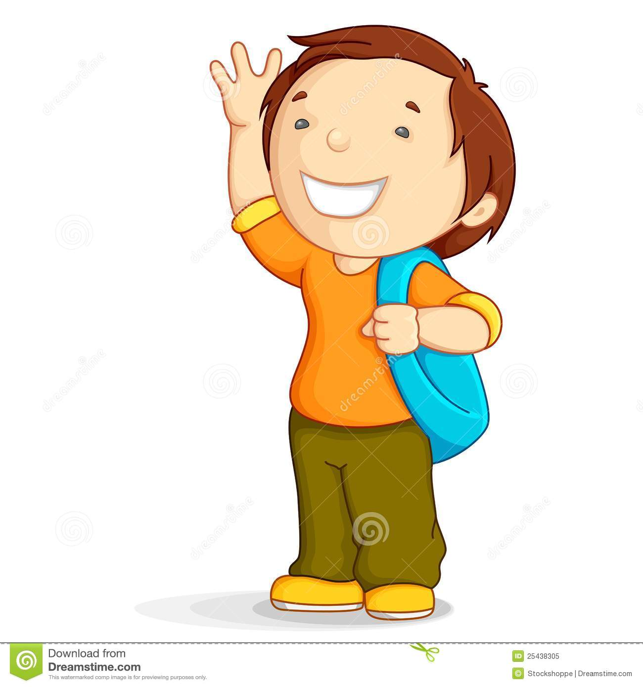 Kid With School Bag Stock Vector Illustration Of Holding