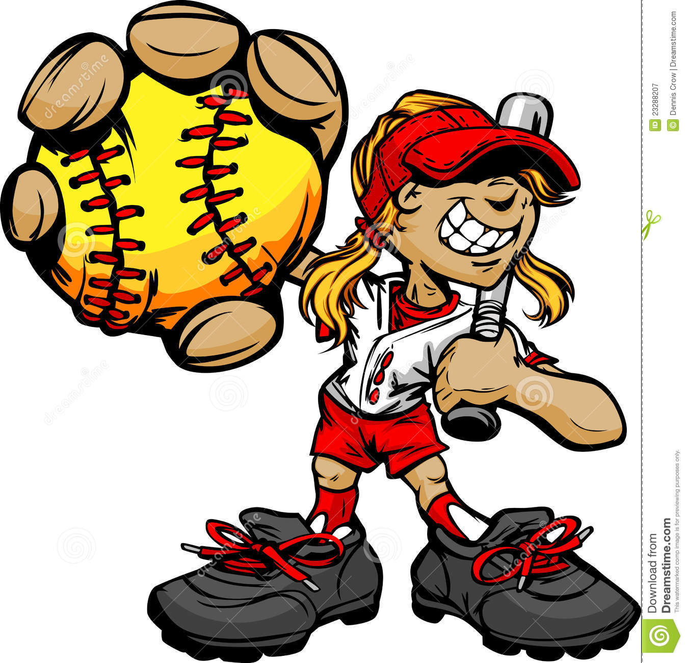 Clip Art Softball Clipart Free softball stock illustrations 2314 kid player holding baseball and bat royalty free photography