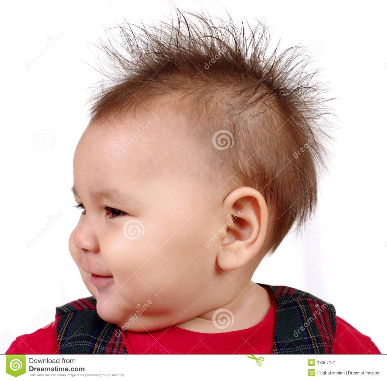 Kid With Spiked Hair Stock Image Image Of Person Girl