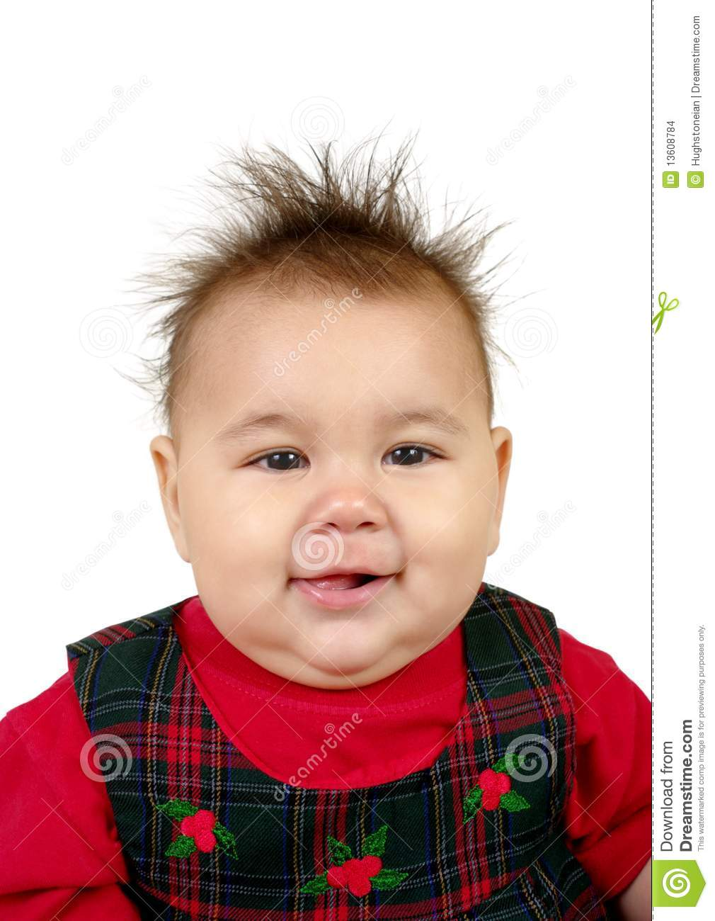 a438b2120 Kid with spiky hair stock photo. Image of holiday