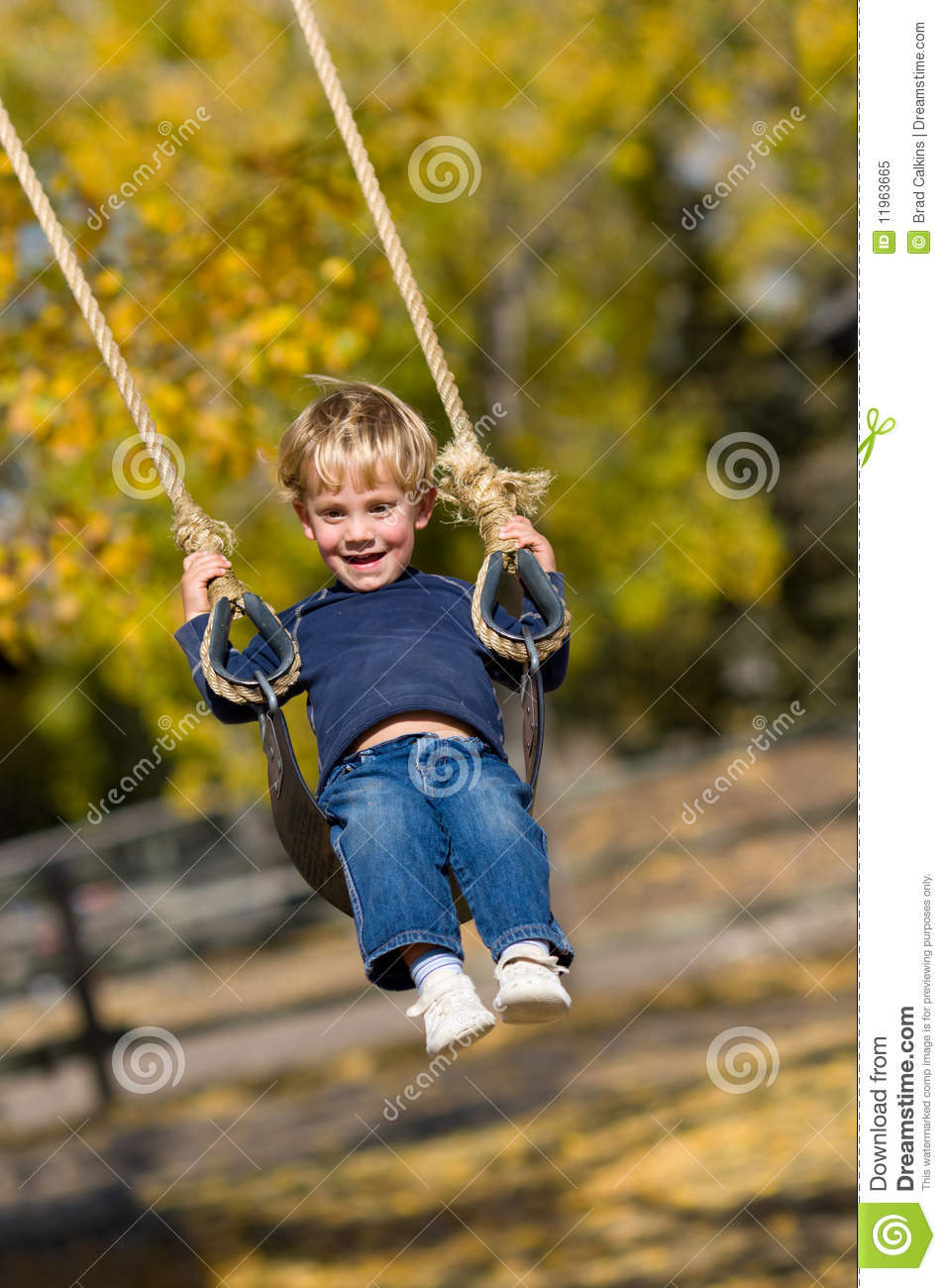 kid on swing royalty free stock photo