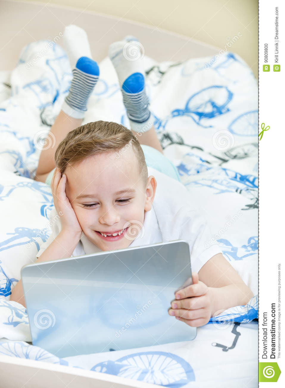 Download Kid with tablet pc stock photo. Image of person, learn - 90809800