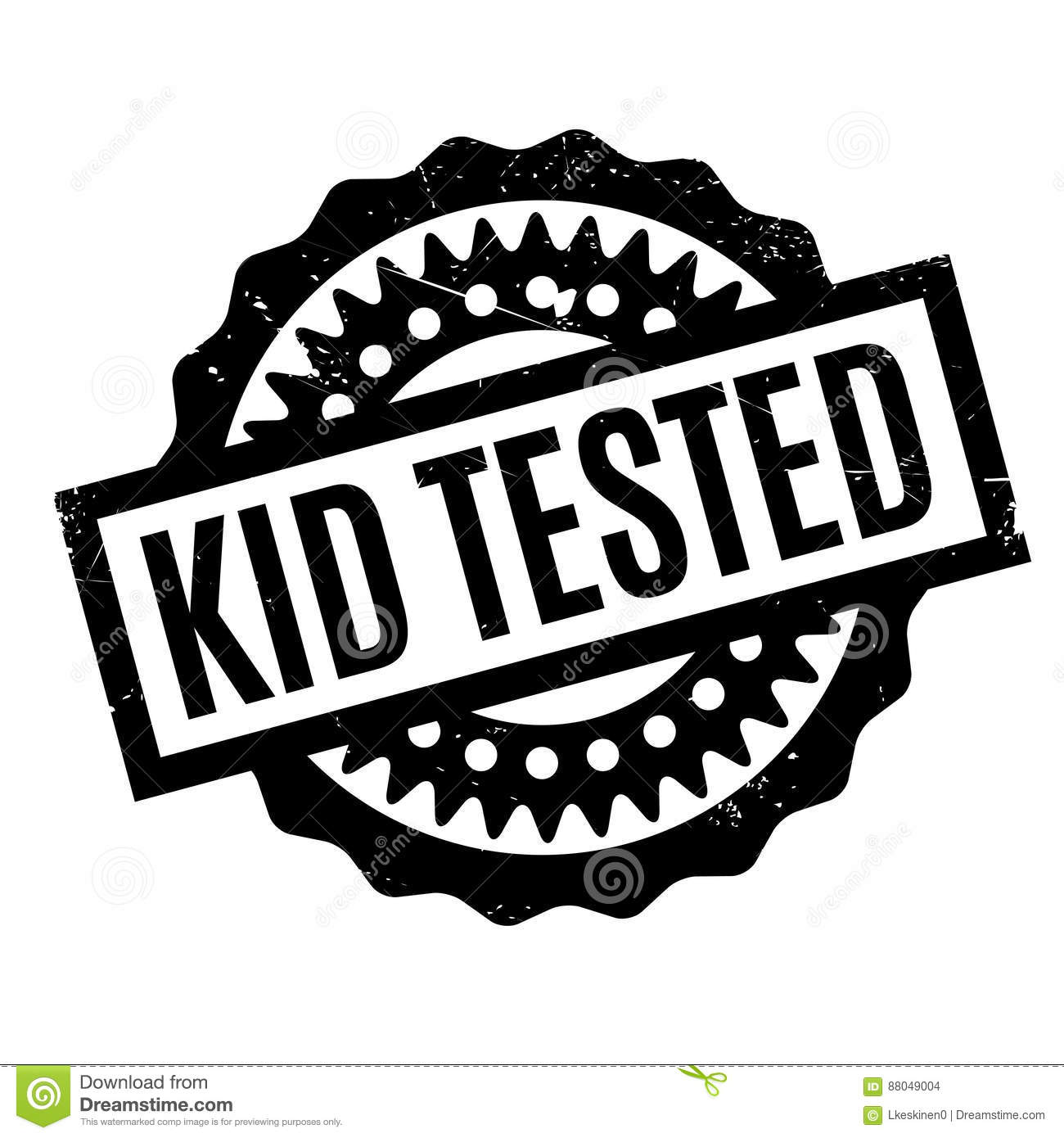 Kid Tested Rubber Stamp