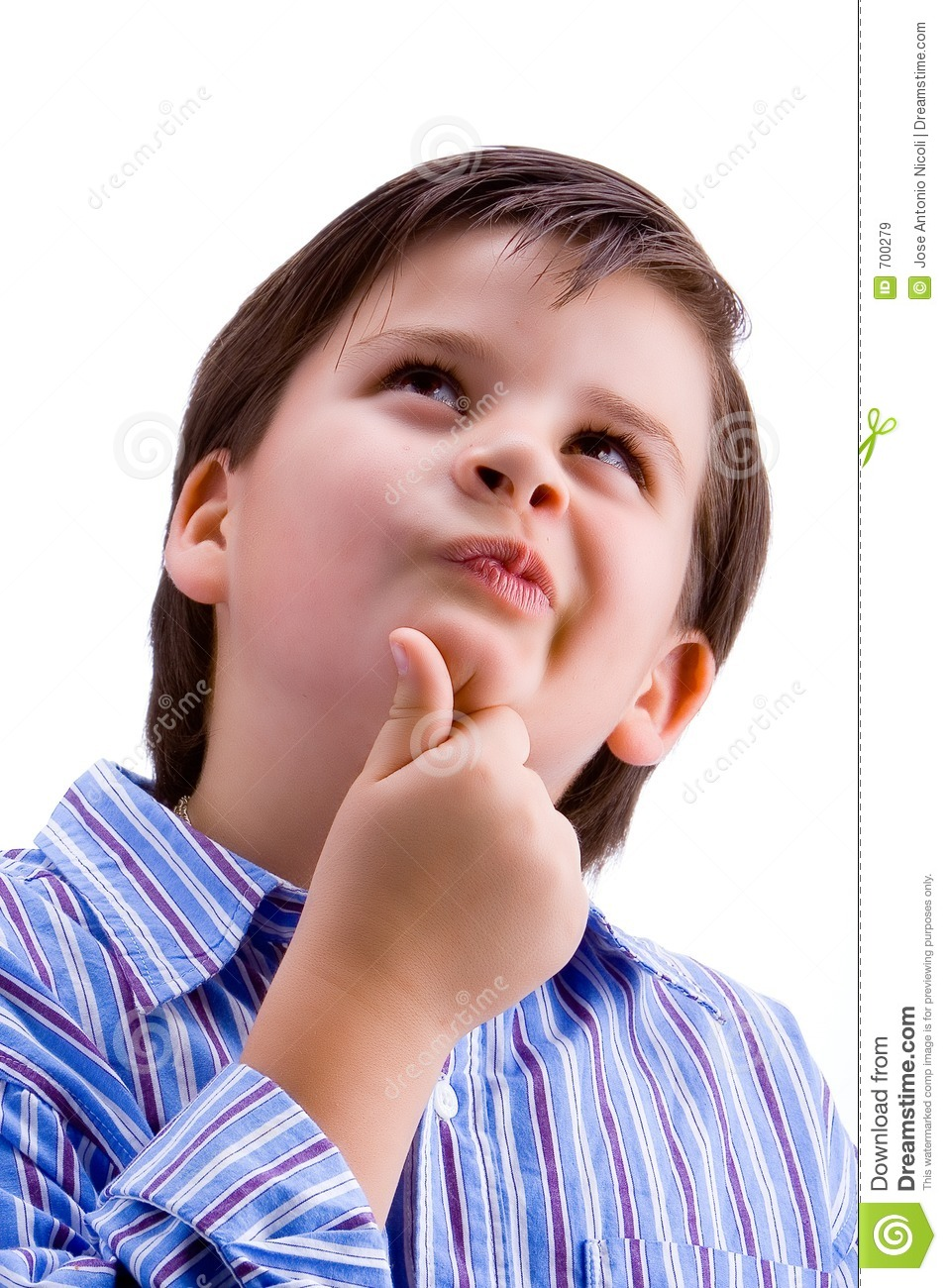 Kid Thinking Royalty Free Stock Images - Image: 700279