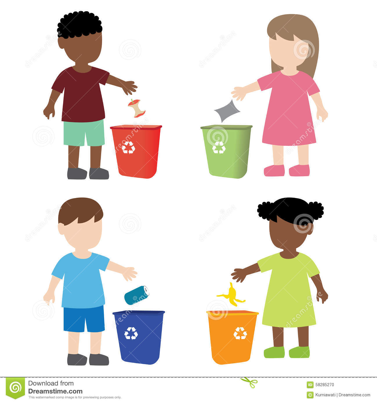 Boy and girl picking up trash - Download Free Vectors, Clipart Graphics &  Vector Art