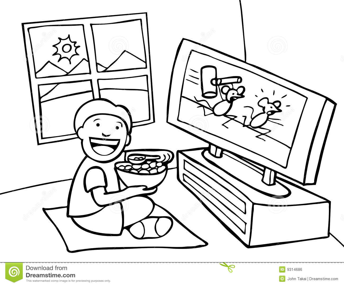 boy watching tv clipart. royalty-free stock photo. download kid watching tv boy tv clipart i