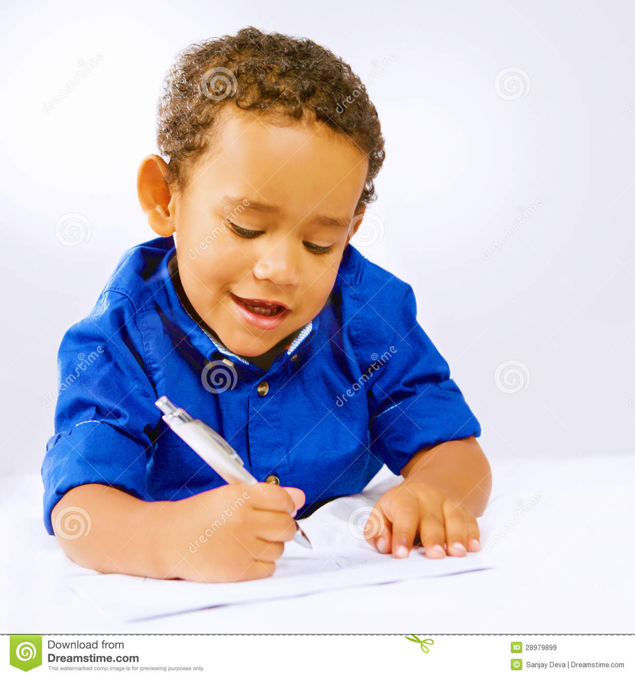Kid Writing Royalty Free Stock Images - Image: 28979899