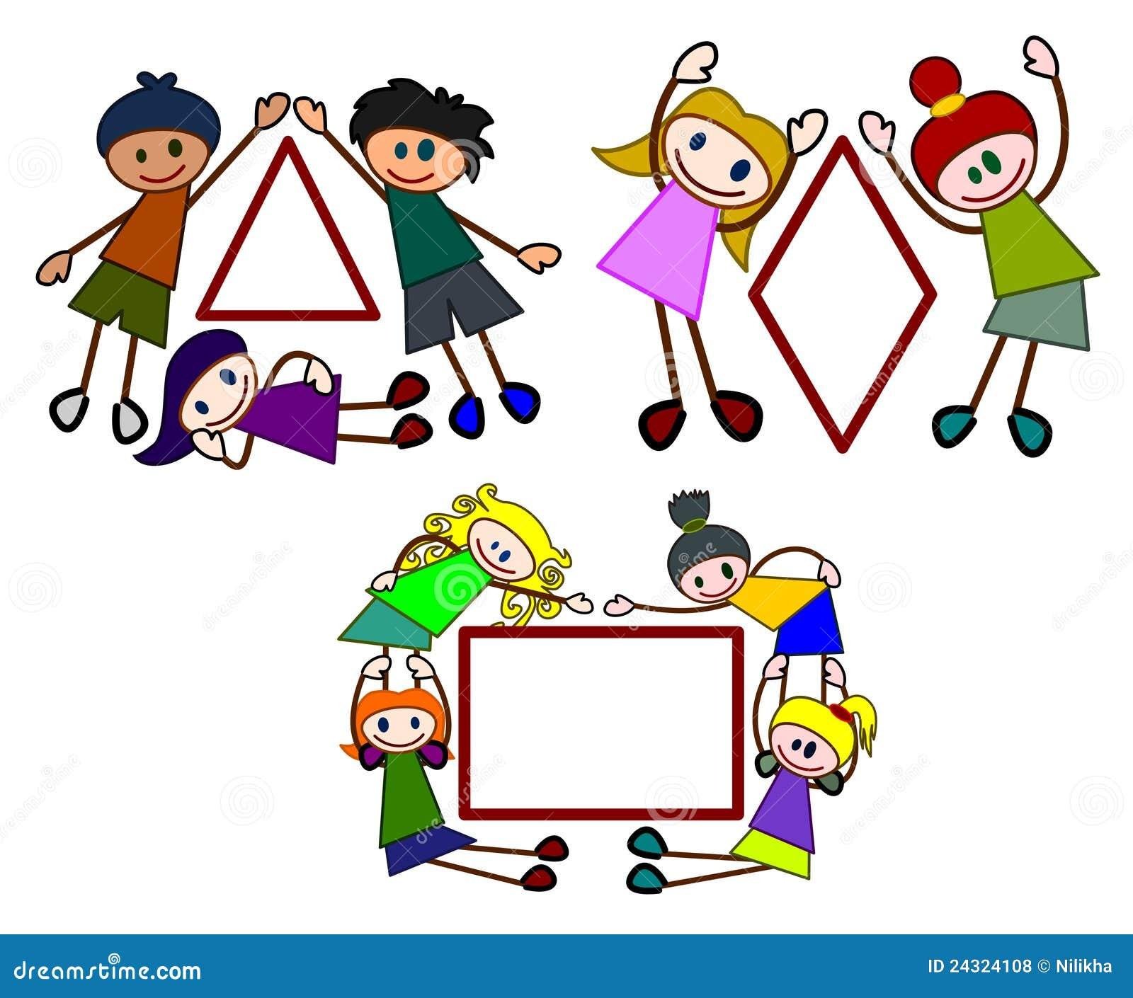 Kiddie shapes set 2 stock illustration. Illustration of ...