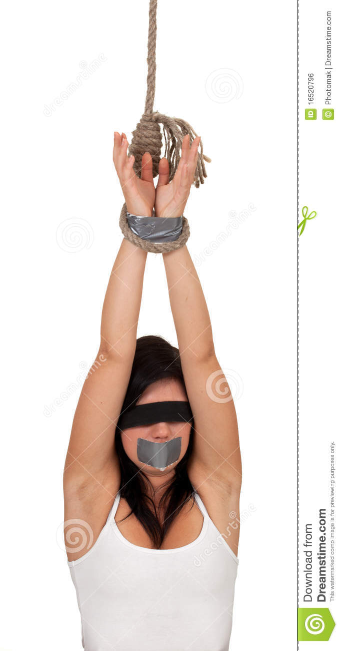 Young woman hostage royalty free stock image image 16520796