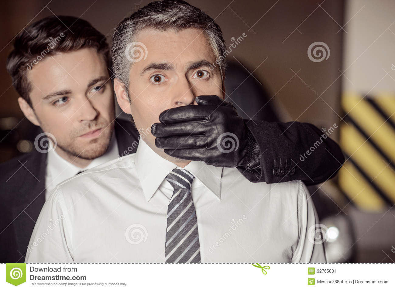 Glove over mouth