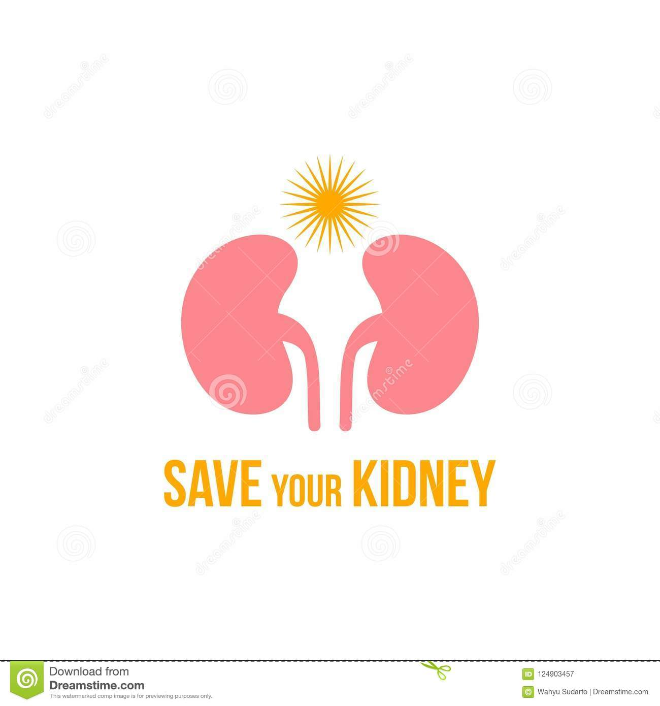 Kidney Logo  Urology Logo Design Stock Illustration - Illustration