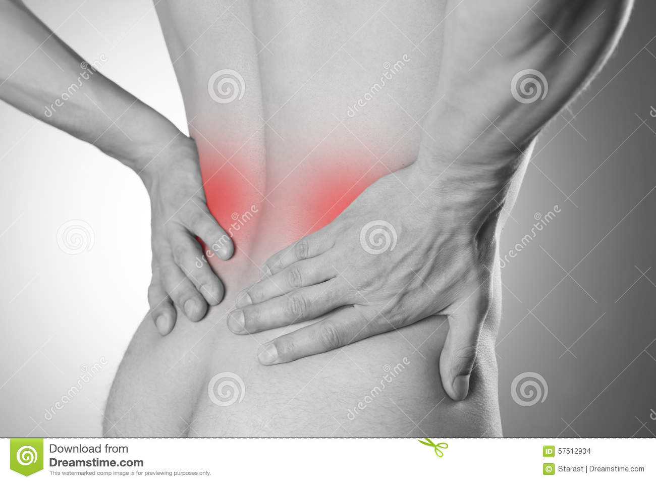 Stock Photo Kidney Pain Man Backache Pain Man S Body Gray Background Image57512934