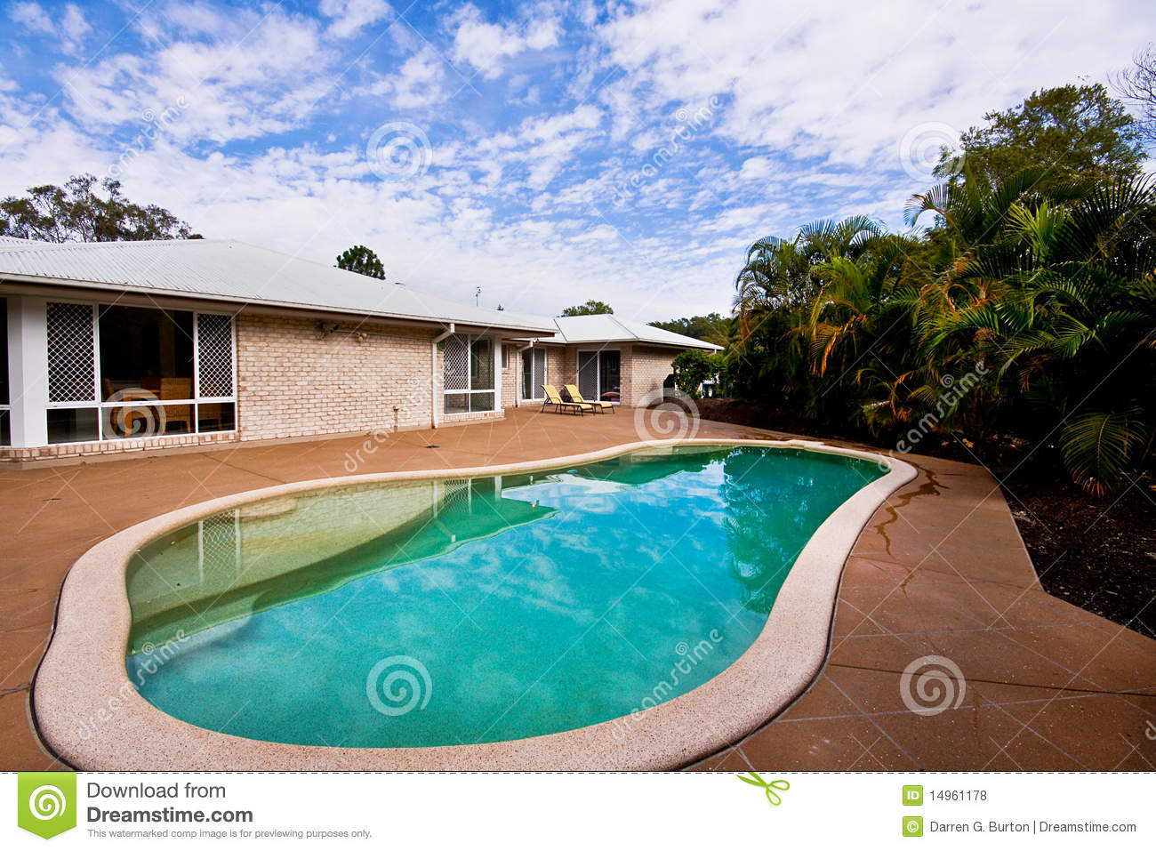 Kidney shaped swimming pool royalty free stock photos for Inground pool greenhouse