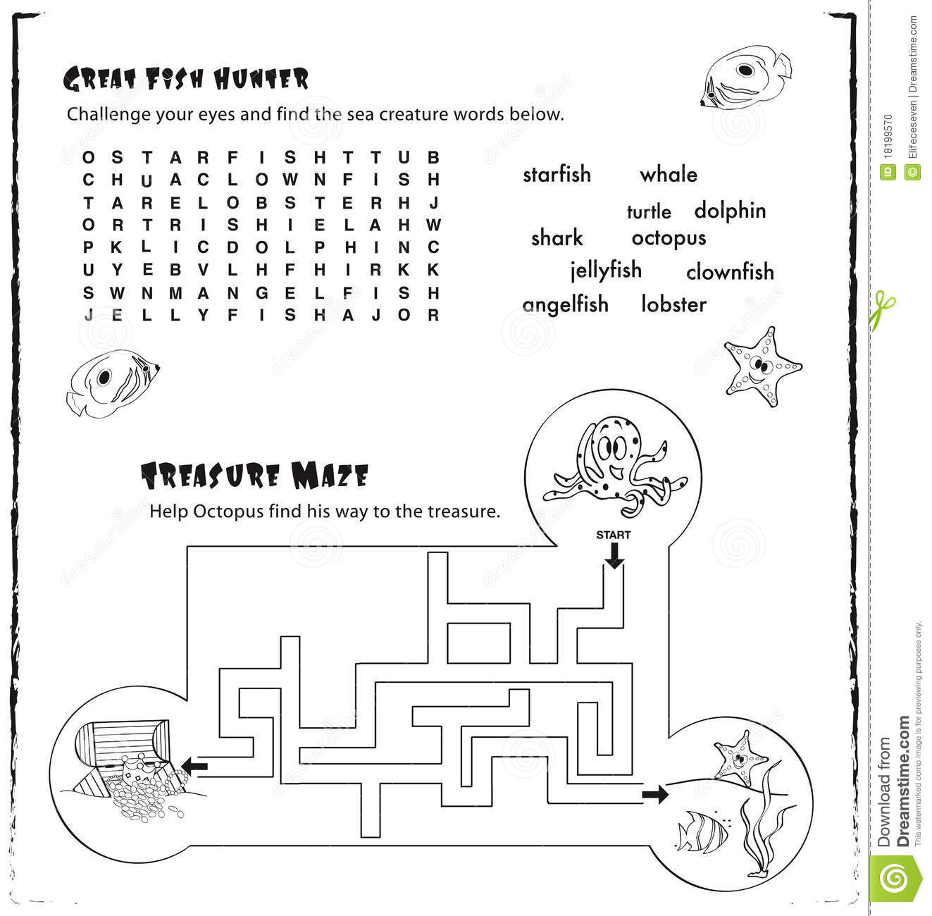 Stock Photo Kids Activity Page Game Image18199570 on Decoder Math Worksheets