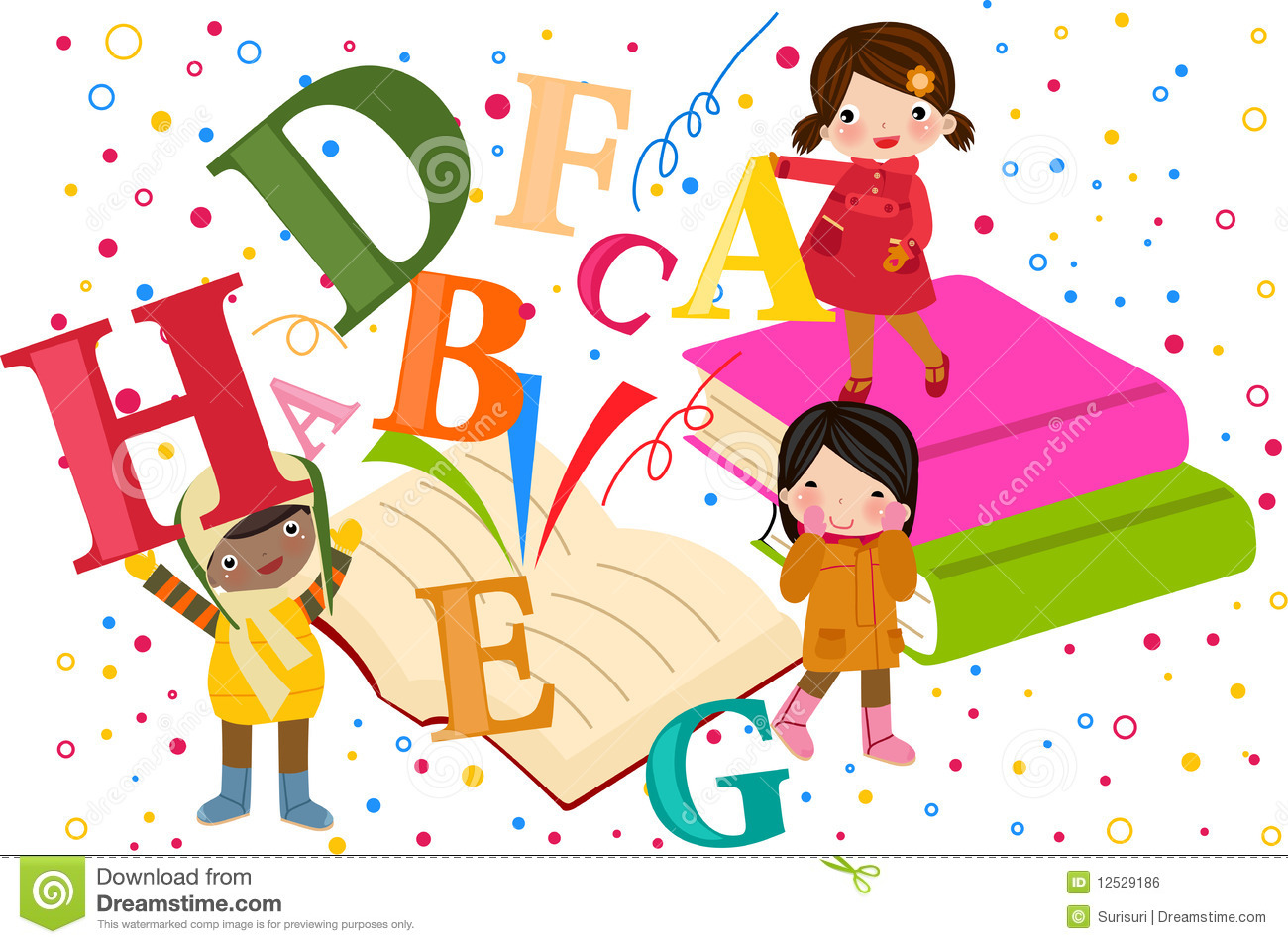 Kids and alphabet stock vector. Illustration of humor ...
