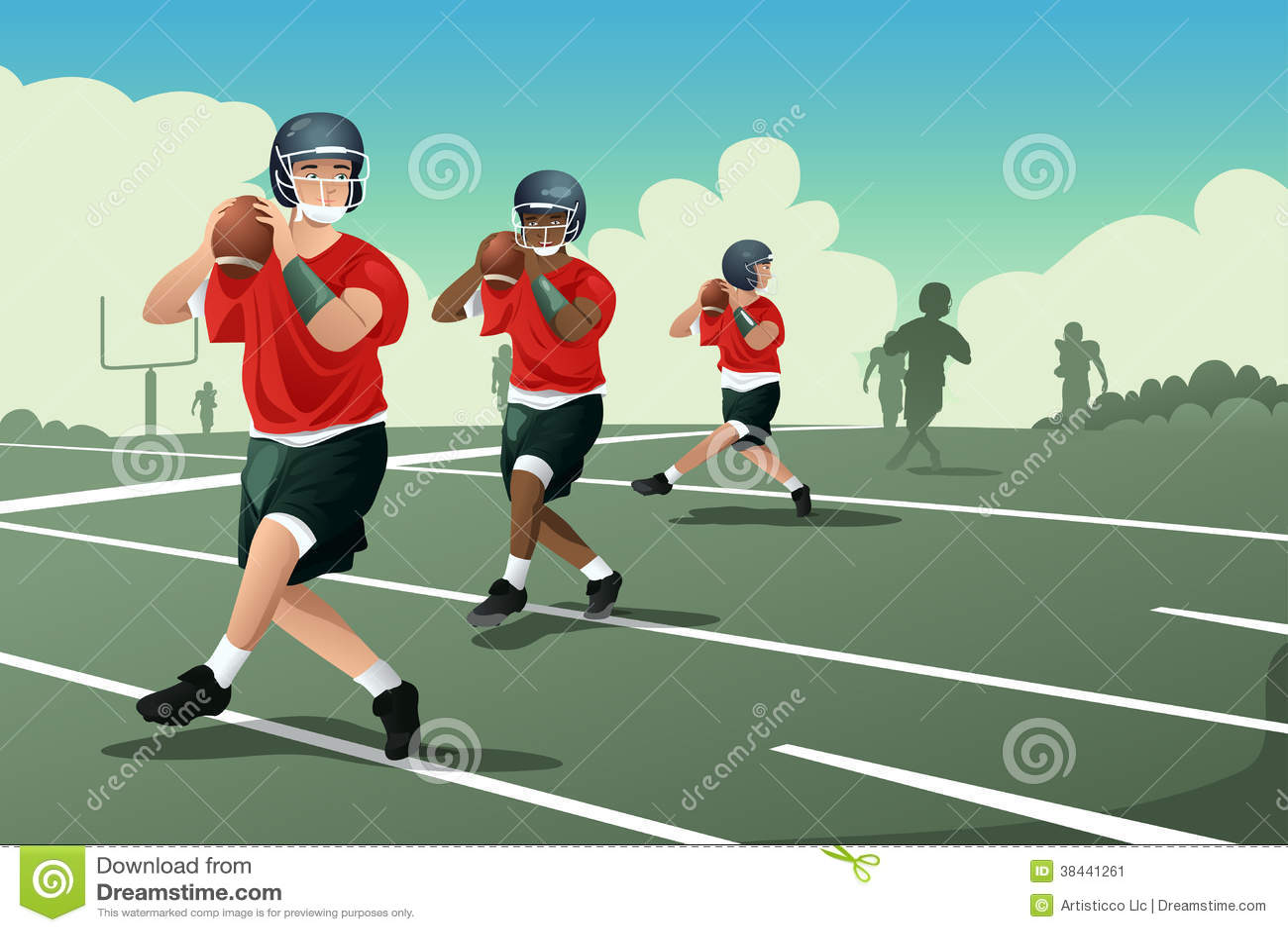 Kids In American Football Practice Stock Image - Image ...