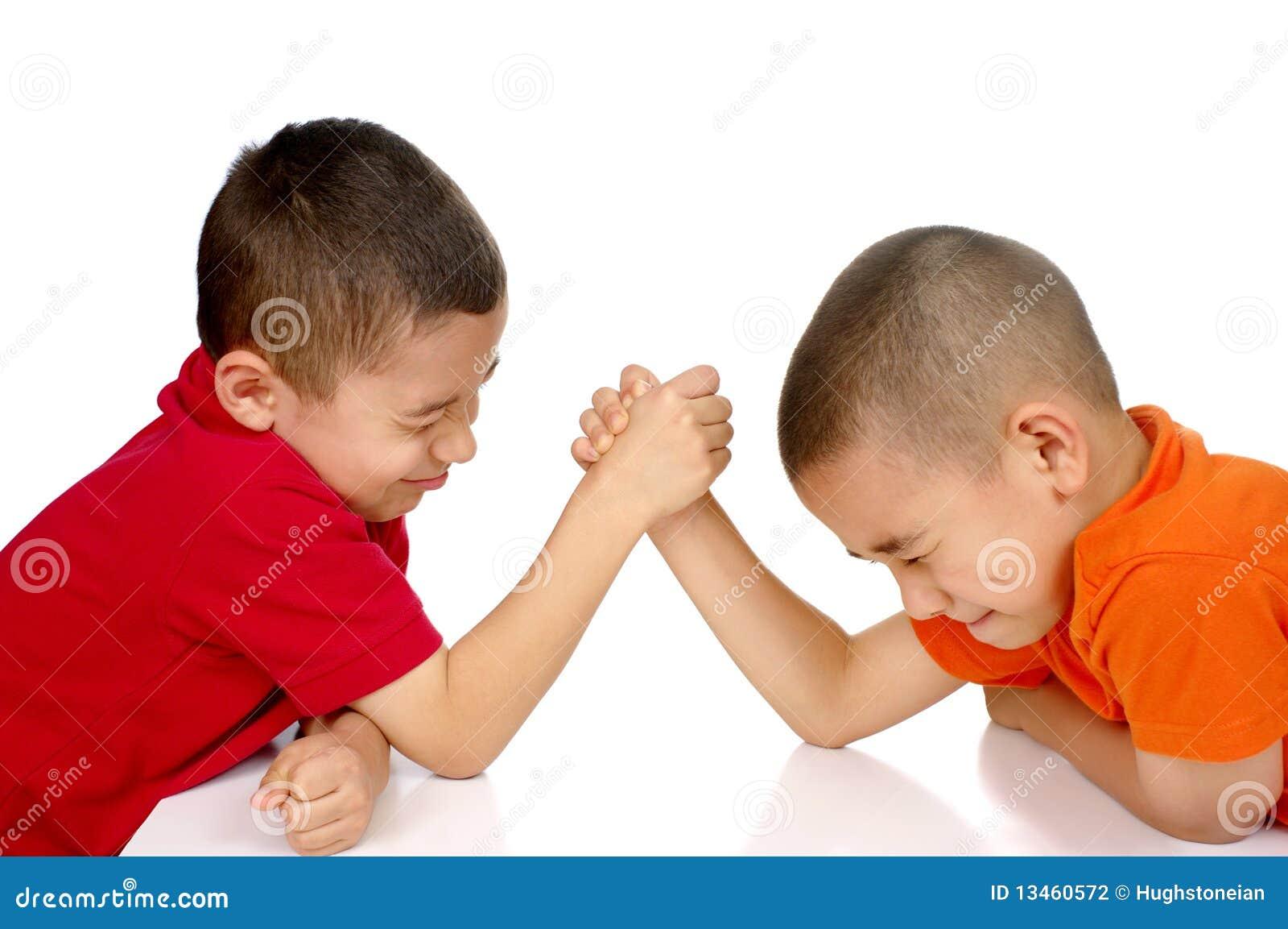 Kids Arm Wrestling Stock Photography - Image: 13460572