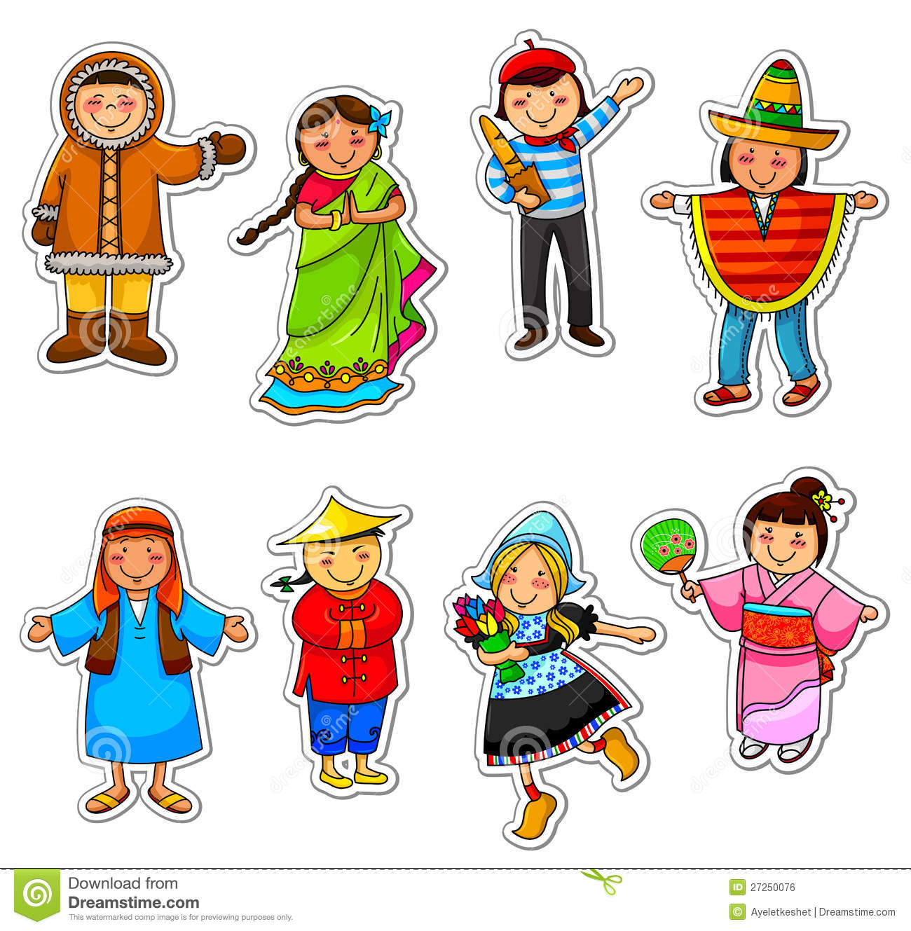 Kids From Around The World Stock Vector Illustration Of