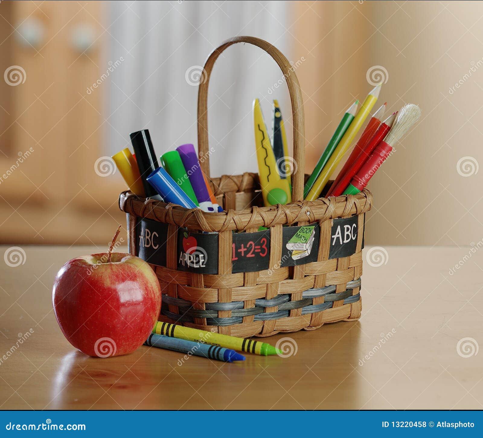 Kids Art And Craft Basket Stock Photo Image Of Craft 13220458