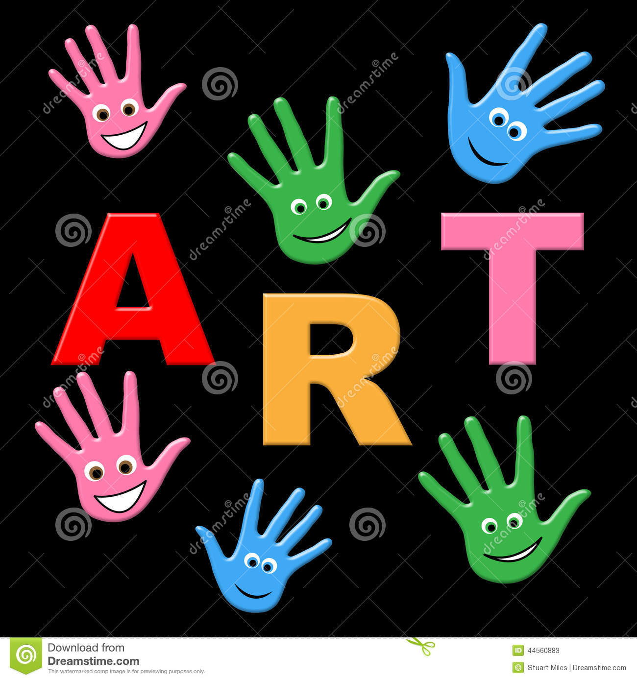Kids Art Shows Craft Draw And Toddlers Stock Illustration - Image ...