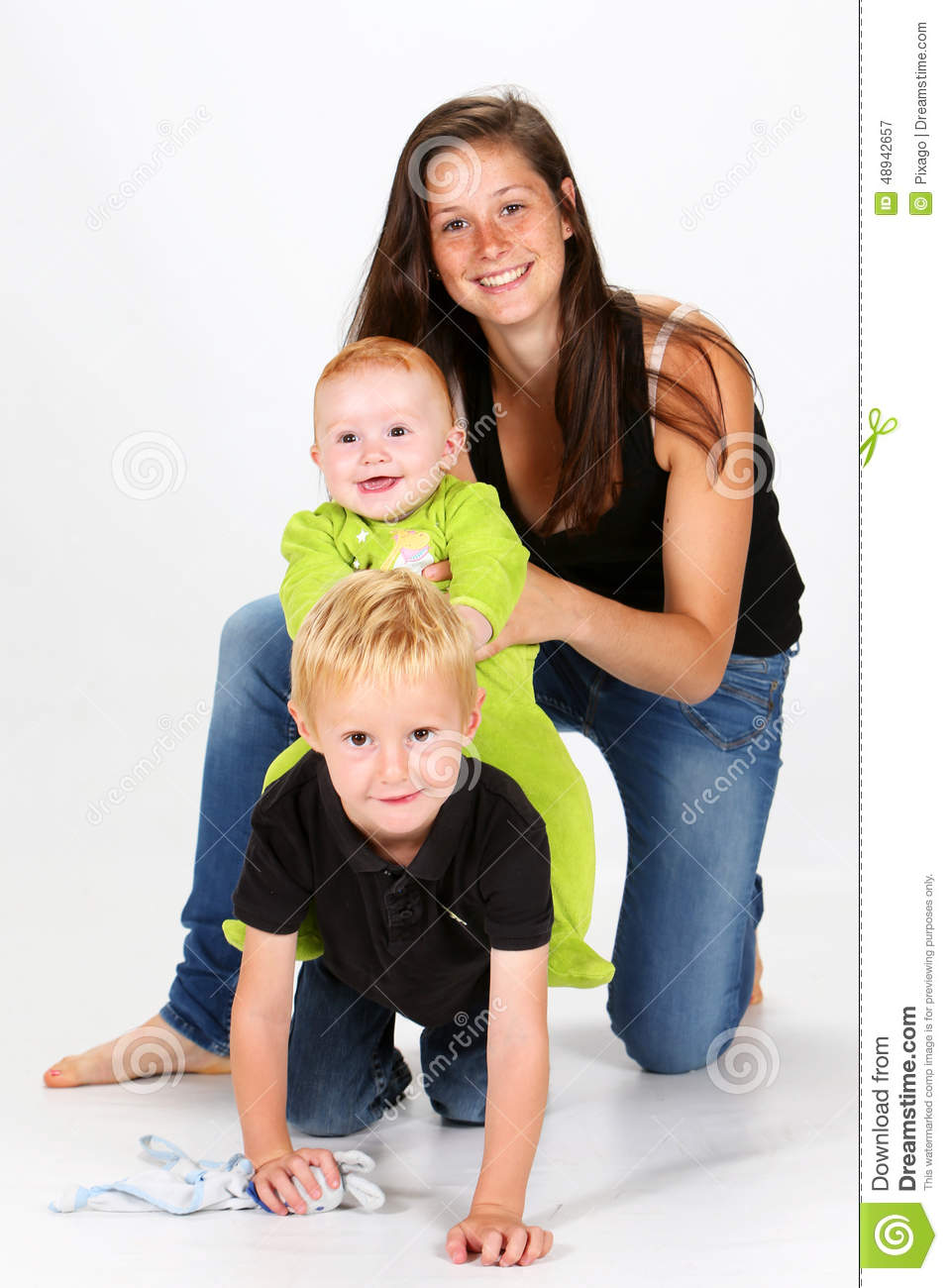 kids and babysitter stock image  image of keeping  interior