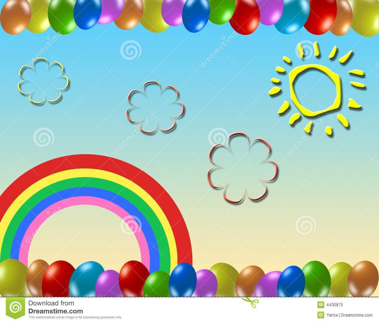 Kids background stock illustration. Image of multicolor ...