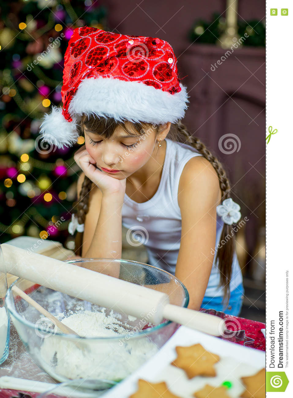 Kids Baking Christmas Cookies Stock Image Image Of Cute Holiday