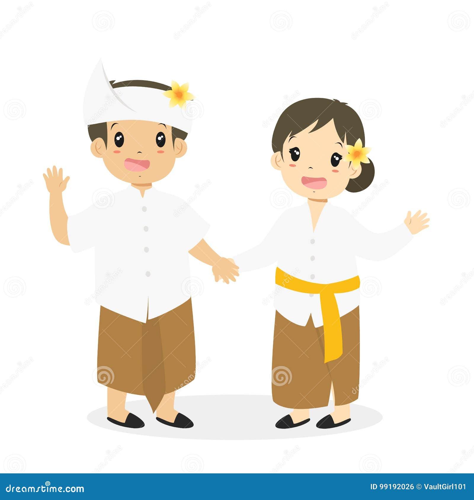 Indonesia Traditional Costume Stock Illustrations – 197 Indonesia ...