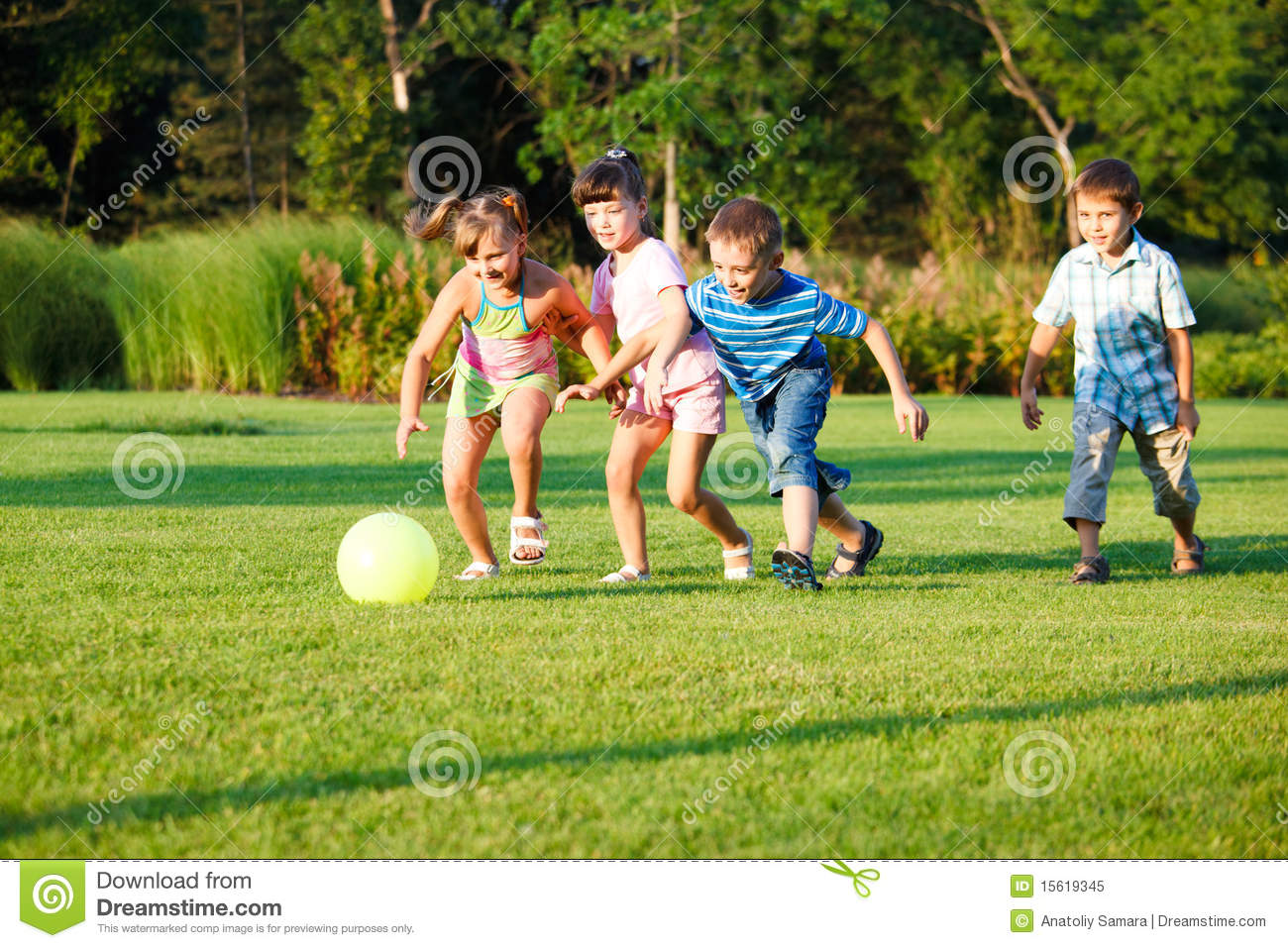 Kids with ball