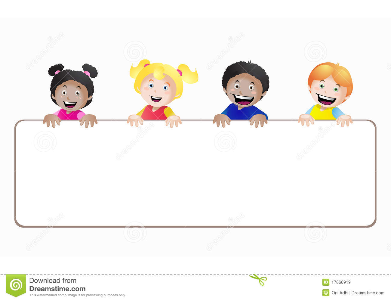 Kids Banner Royalty Free Stock Images - Image: 17666919