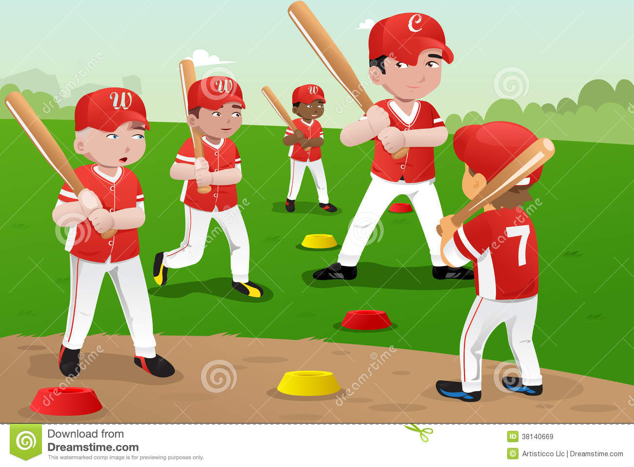 Kids In Baseball Practice Royalty Free Stock Images - Image: 38140669