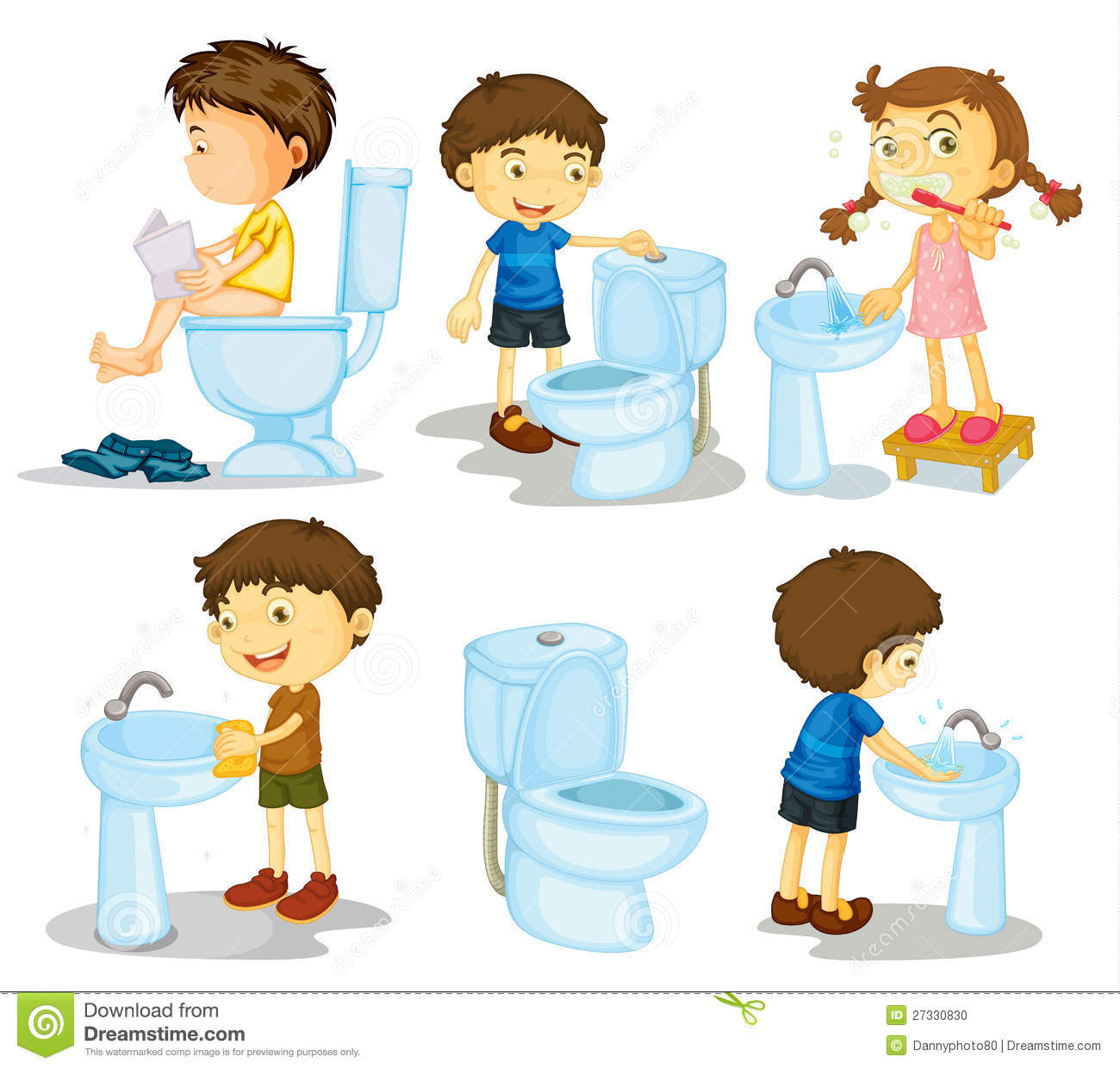 Kids and bathroom accessories stock photo image 27330830 for Kids bathroom accessories