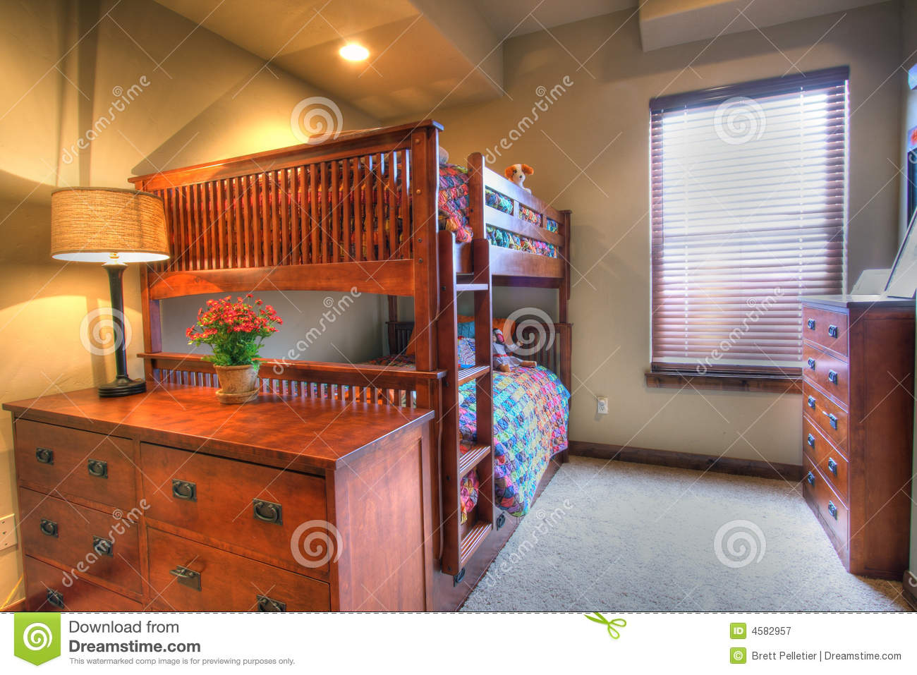 Kids Bedroom Bunk Bed Royalty Free Stock Photography ...