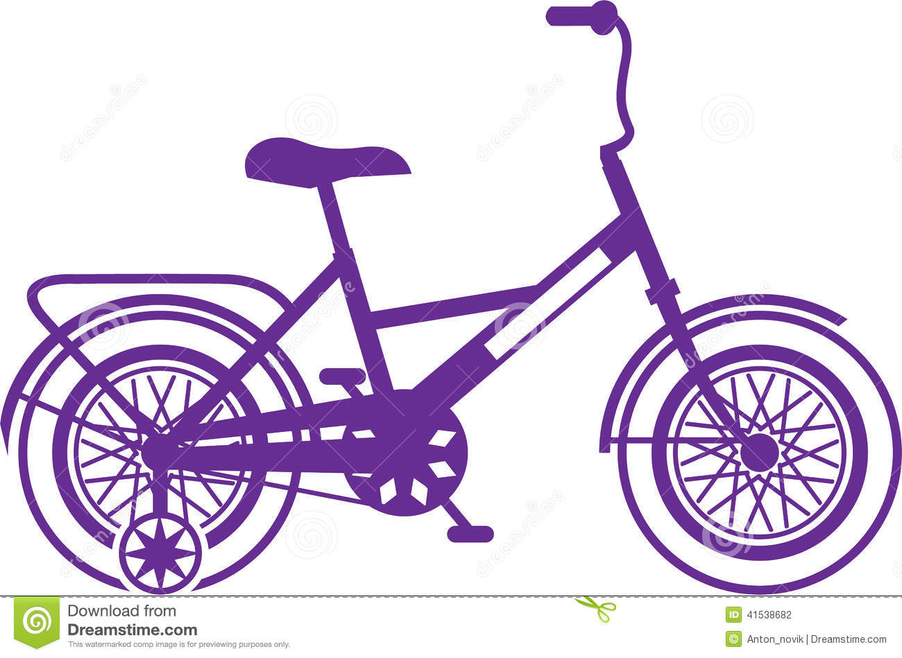 Kids Bicycle Stock Vector Image 41538682