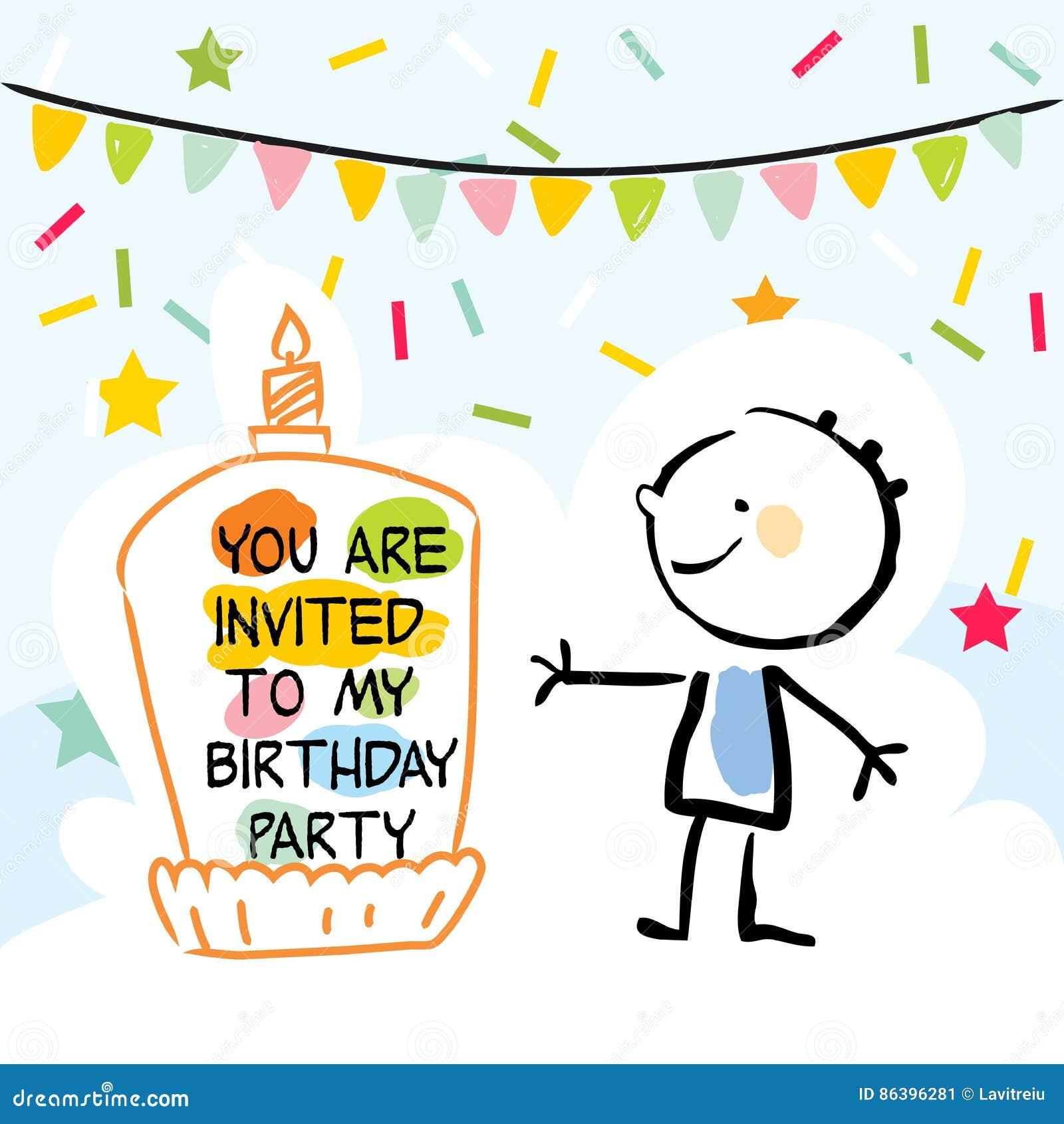 Fabulous Kids Birthday Card Stock Vector Illustration Of Celebration Personalised Birthday Cards Paralily Jamesorg